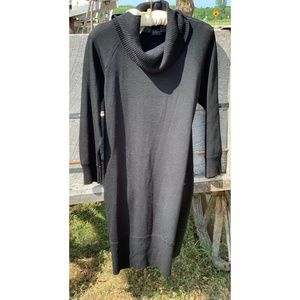 Black Turtleneck Sweater Dress -